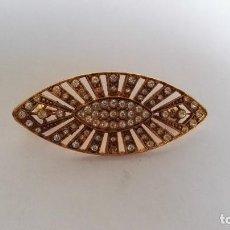 Joyeria - Broche mantilla en dorado envejecido y cristal - 109794131