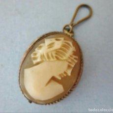 Jewelry - colgante de plata contrastada italiana y camafeo de concha realizado a mano - 110022363
