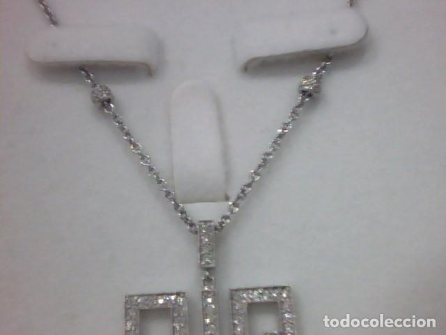 Joyeria: cadena y colgante oro blanco y diamantes - Foto 2 - 110275015