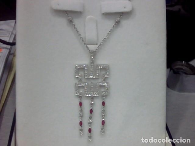 Joyeria: cadena y colgante oro blanco y diamantes - Foto 3 - 110275015