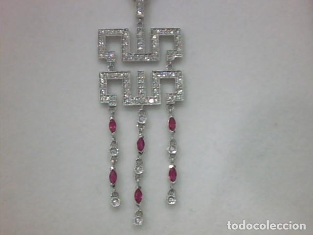 Joyeria: cadena y colgante oro blanco y diamantes - Foto 4 - 110275015