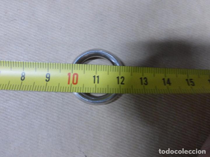 Joyeria: FABULOSO ANILLO DE PLATA MACIZA 925 CON CONTRASTES-PIEDRA BLANCA-MUY SÓLIDO Y ROBUSTO-PESO 10 G - Foto 6 - 110405511