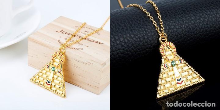bdfe261d6528 Cadena colgante piramide cruz egipcia vintage y - Vendido en Venta ...