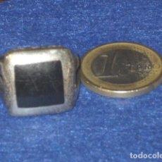 Joyeria: ANILLO DE PLATA 925 TIPO SELLO,CON PIEDRA DE AZABACHE O ONICE.. Lote 110811587