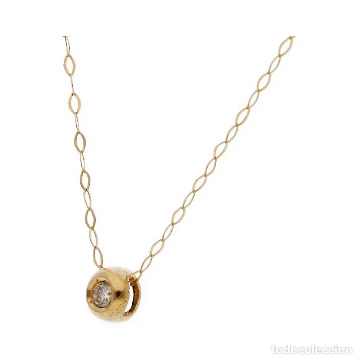 Joyeria: Collar y Colgante Diamante y Oro de Ley 18k - Foto 2 - 158815280