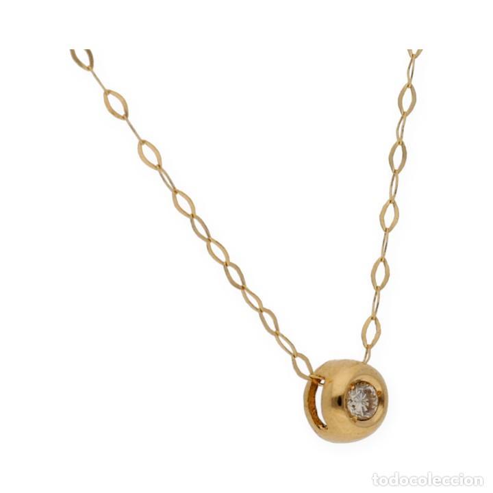 Joyeria: Collar y Colgante Diamante y Oro de Ley 18k - Foto 3 - 158815280