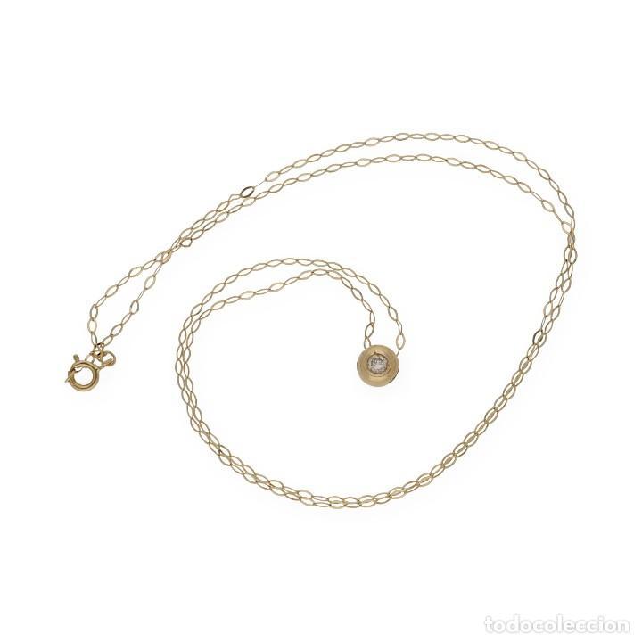 Joyeria: Collar y Colgante Diamante y Oro de Ley 18k - Foto 5 - 158815280