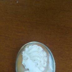 Jewelry - Camafeo de concha autentica broche y colgante en plata - 111321279