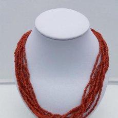 Jewelry - Sofisticada gargantilla antigua ibizenca de chakiras de coral auténtico. - 111628051