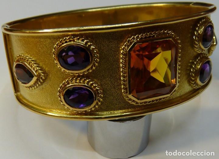 Joyeria: Pulsera Brazalete de Oro macizo de 18K - Foto 2 - 111768255