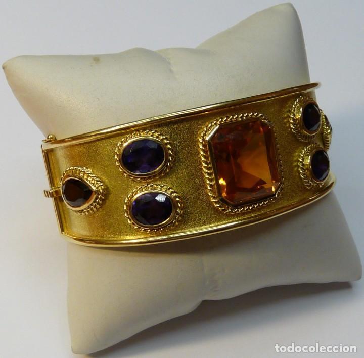 Joyeria: Pulsera Brazalete de Oro macizo de 18K - Foto 3 - 111768255