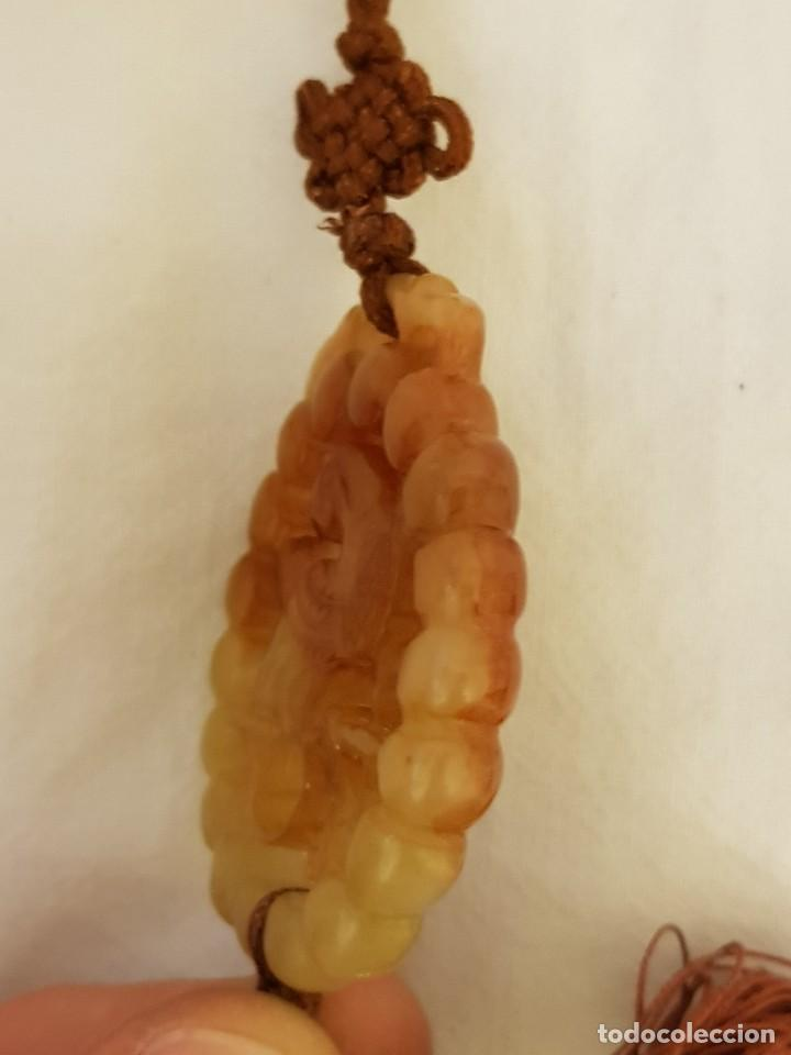 Joyeria: Colgante oriental de jade natural calado. Ave. Siglo XX - Foto 4 - 111830175