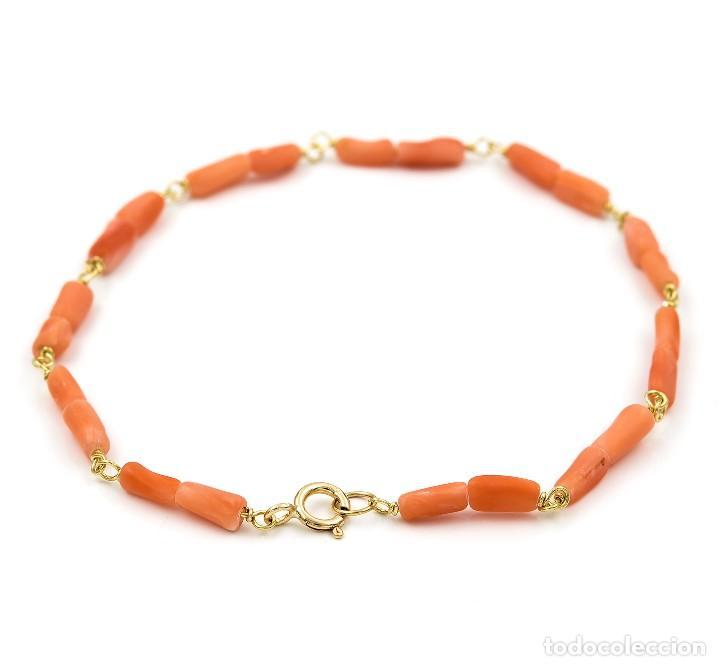 aceb9dcbcfe5 pulsera oro amarillo 18kt con corales - Comprar Pulseras Antiguas en ...