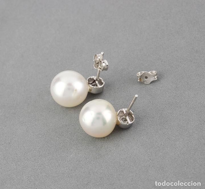 Joyeria: Pendientes Diamantes y Perlas Australianas de los Mares del Sur y Oro 18k - Foto 6 - 112259415