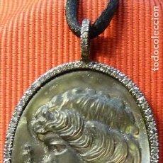 Jewelry - Colgante de Oro blanco 18 K Camafeo de Nacar y Diamantes - 112553275