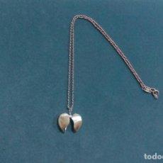 Colgante corazón abierto plata 925