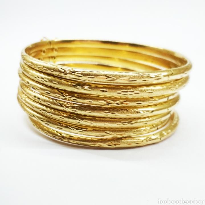5815eec07162 Dos unidades de pulseras de semanario oro 18k - Vendido en Venta ...
