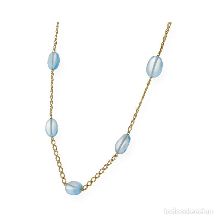 Joyeria: Collar Topacio Azul y Oro de Ley 18k - Foto 2 - 113152107
