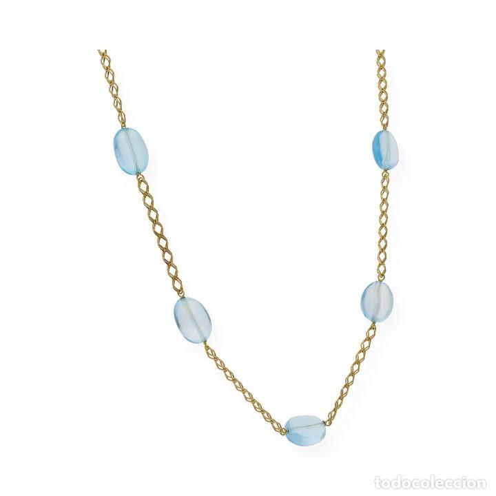 Joyeria: Collar Topacio Azul y Oro de Ley 18k - Foto 3 - 113152107