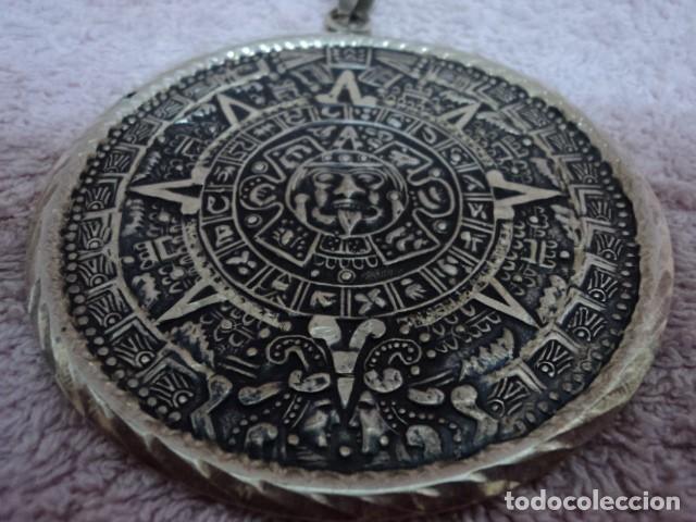 Schmuck: MAGNIFICO Y UNICO COLGANTE ANTIGUO VINTAGE EN PLATA 925 ORIGINAL INCA MEXICO DF PIEZA DE ORFEBRE - Foto 2 - 113609603