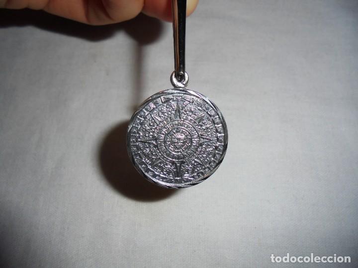 MEDALLA CALENDARIO SOLAR AZTECA CUÑADO 925 MEXICO Y GF01 (Joyería - Colgantes Antiguos)
