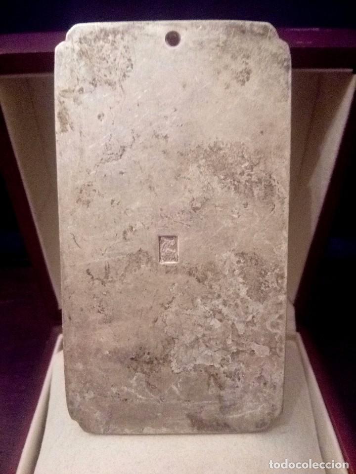 Joyeria: LINGOTE EN PLATA CON GRABADO DE CIERVOS Y AVES FENIX - 133 GRAMOS - Foto 5 - 152162301