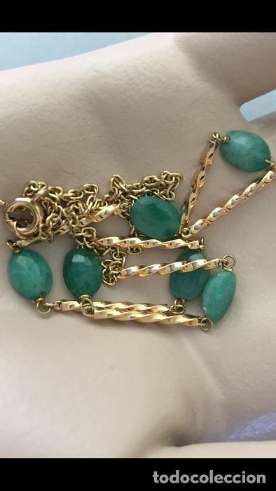 Joyeria: collar de oro 18kt y esmeraldas. - Foto 3 - 100423015