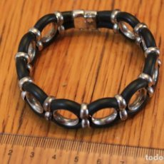 Jewelry - Pulsera de plata con caucho. - 114260527