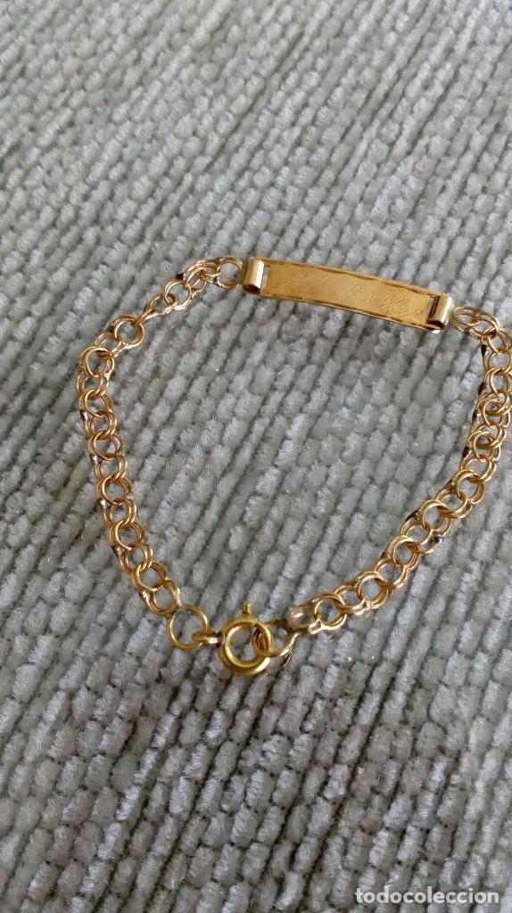 c7afd173fb11 pulsera esclava de oro de bebé - Comprar Pulseras Antiguas en ...