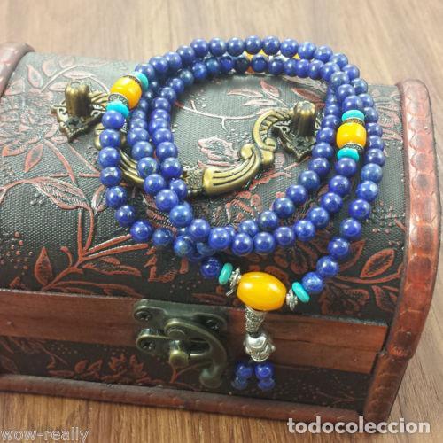 Joyeria: Tibet, Collar de cuentas budista de lapislazuli para rezo, turquesa 108 cuentas - Foto 2 - 114606787