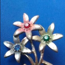 Joyeria: ANTIGUO BROCHE DE ALFILER. RAMO DE FLORES. MOTHER. METAL. Lote 194982796