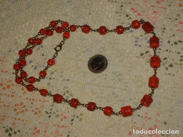 Joyeria: COLLAR LARGO DE CERAMICA O CRISTAL,AÑOS 70. - Foto 3 - 114736651