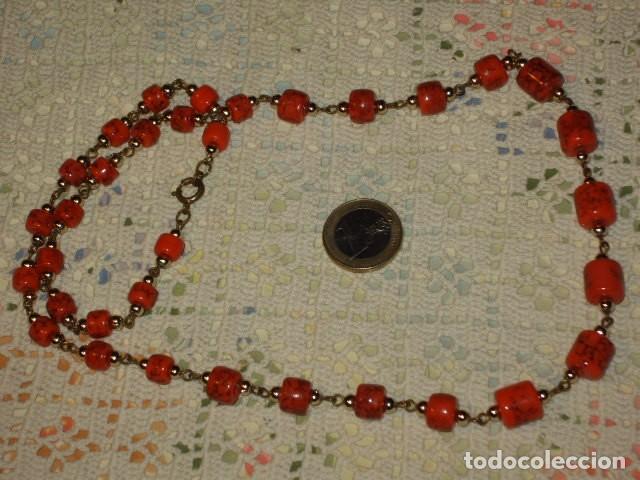 Joyeria: COLLAR LARGO DE CERAMICA O CRISTAL,AÑOS 70. - Foto 4 - 114736651