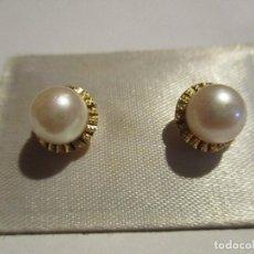 Joyeria - pendientes oro 18 k. y perlas cultivadas - 114895023