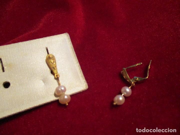 Joyeria: pendientes oro y perlas - Foto 2 - 114895795