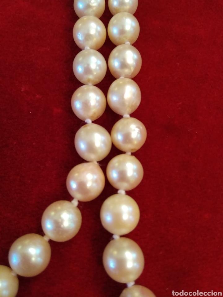 d179d47337fb Joyeria  Collar de perlas cultivadas con broche de oro 18 kl y ágata  carneola -