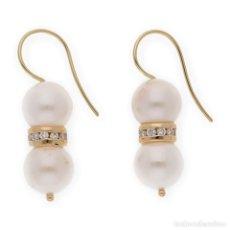 Joyeria - Pendientes Diamantes y Perlas Akoya de Japón en Oro de Ley 18k - 115172819