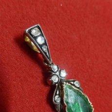 Schmuck - Colgante mallorquín. Oro 18 k, plata, diamantes y esmeralda. Finales XIX, principios XX. Mallorca - 115633151