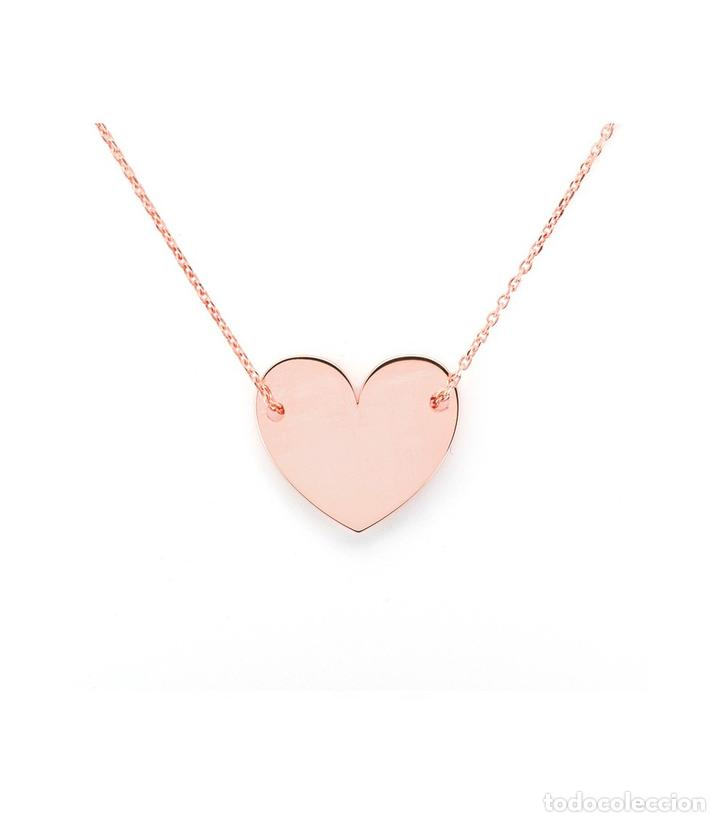 5924ec3a545c colgante corazón plata oro rosa - Comprar Colgantes Antiguos en ...