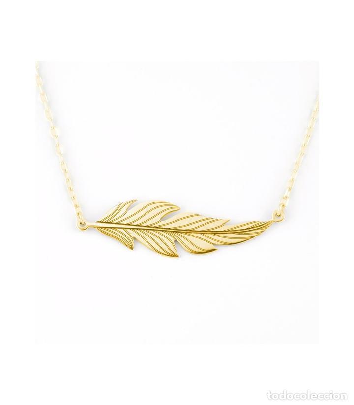 02344bb2254e colgante pluma plata oro - Buy Antique Pendants at todocoleccion ...