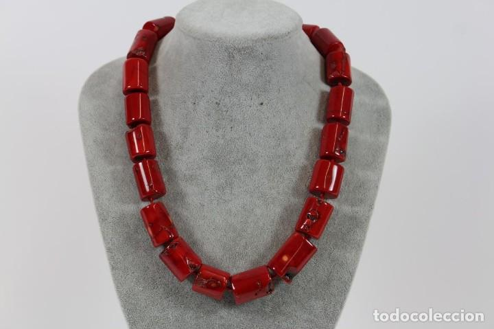 bf41438603b5 collar coral rojo - Buy Antique Necklaces at todocoleccion - 116879919