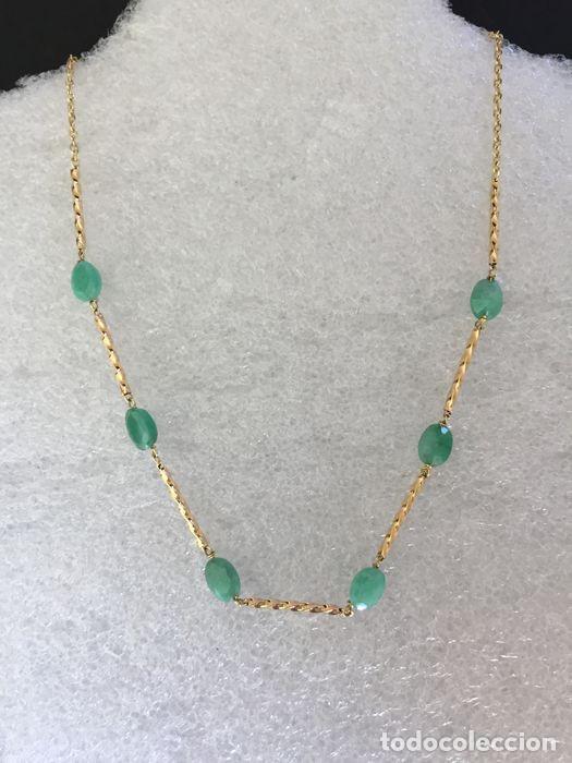 Joyeria: collar de oro 18kt y esmeraldas. - Foto 2 - 100423015