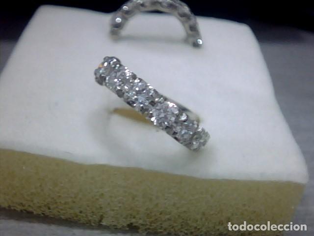 Joyeria: pendientes oro blanco 18 kl y diamantes - Foto 2 - 117187775