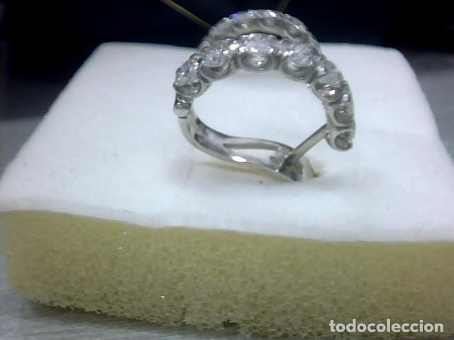 Joyeria: pendientes oro blanco 18 kl y diamantes - Foto 3 - 117187775