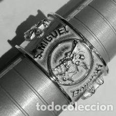 Joyeria: ANILLO ARCANGEL SAN MIGUEL EN PLATA DE LEY ADAPTABLE A CUALQUIER MEDIDA. Lote 117587855