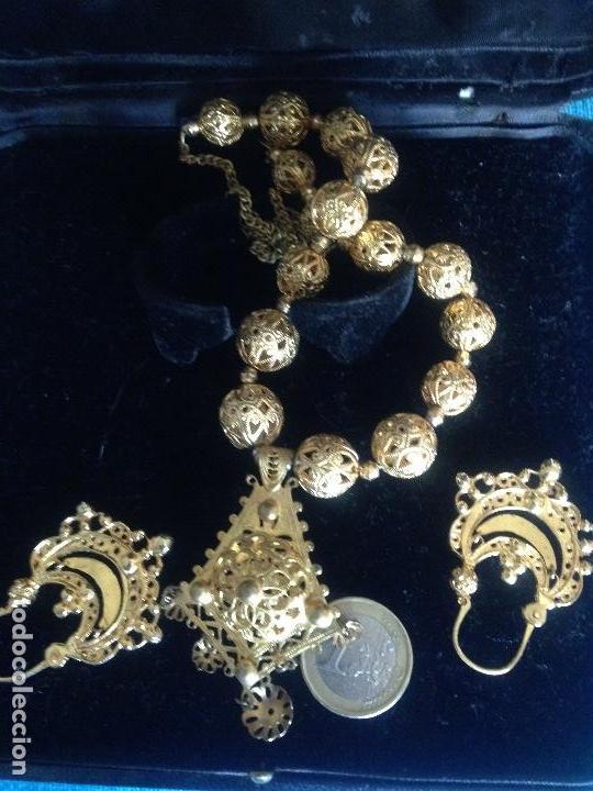 Joyeria: Conjunto collar pendientes tipo arracadas Astorga - Foto 2 - 117976835