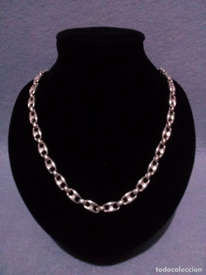 8be57fae56dc Cadena en plata de ley 999 milesimas - Tipo Cartier - 42 centimetros - 34  Gr.