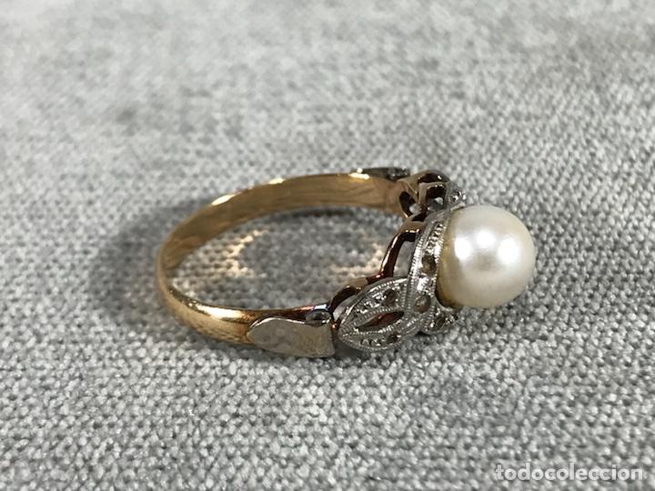 Joyeria: Anillo en Oro y Oro blanco 18k y Perla - - Foto 4 - 118267600