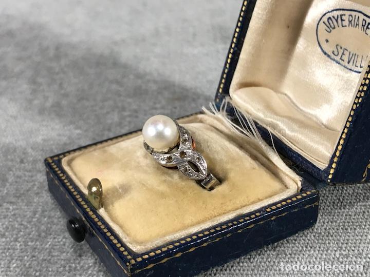 Joyeria: Anillo en Oro y Oro blanco 18k y Perla - - Foto 2 - 118267600