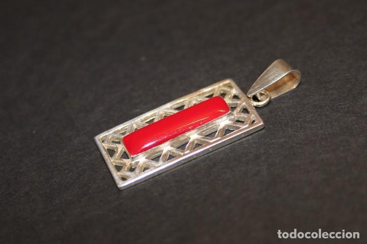 Joyeria: Colgante de plata con esmalte rojo - Foto 2 - 118397223